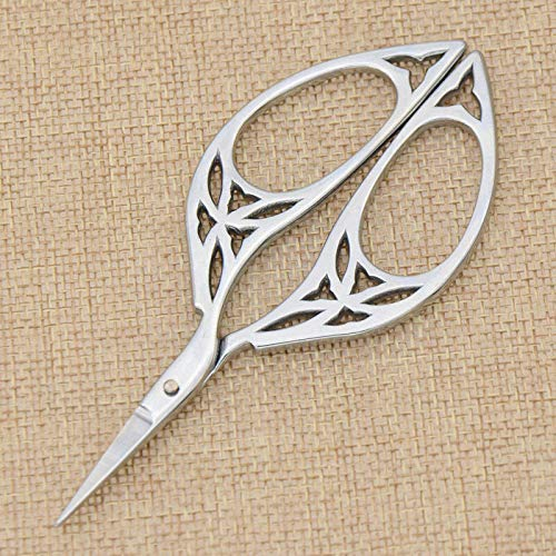 MOPOLIS Tailor Sewing Embroidery Scissors Stainless Steel Cutter Craft Gifts Gold Silver   Color - - Thread Invisible Kevlar