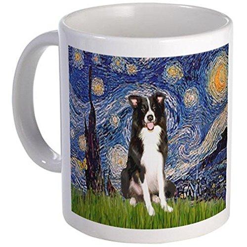 - 11 ounce Mug - Starry Night Border Collie Mug - S White