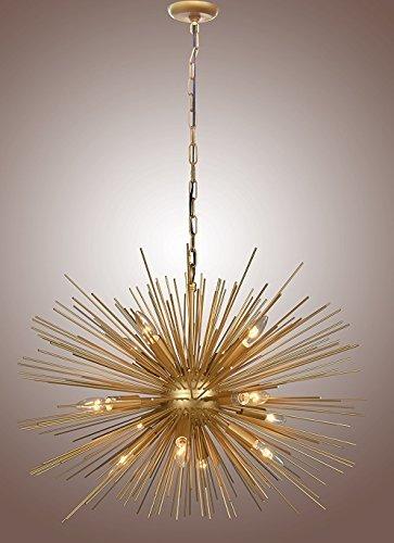 Decomust 30 Inch Astra Sputnik Satellite Pendant Light Chandelier Gold