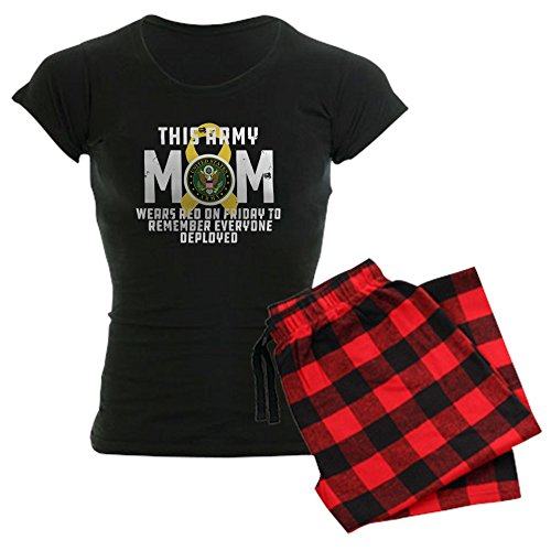 CafePress Army Mom Wears RED Womens Novelty Cotton Pajama Set, Comfortable PJ Sleepwear