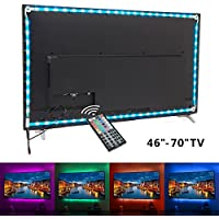 White PCB TV backlight , Nexlux LED TV Lights USB Kit 5050 RGB Multicolor Back Lightings Strip with 44-key IR Remote Controller for 46inch~70inch HDTV PC Monitor Home Theater Decoration