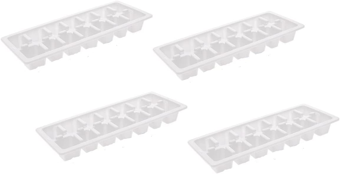 6pc Whitefurze Ice Cube Tray Clear Fridge Kitchen Home New