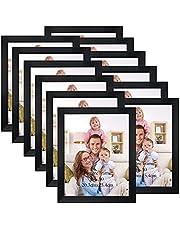 Giftgarden Picture Frames Black Set of 12