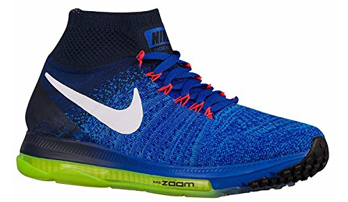 Nike Zoom All Out Flyknit, Zapatillas de Running para Hombre Azul (Racer Blue / White-Obsidian-Blue Glow)