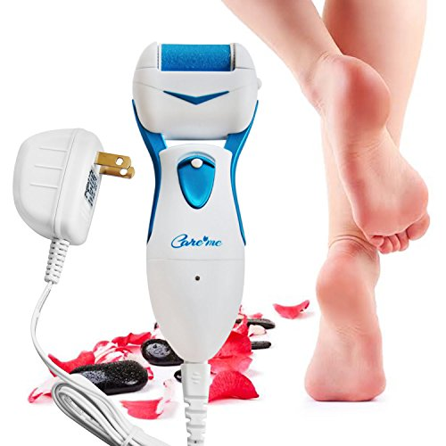 Care me Powerful Electric Foot Callus Remover Rechargeable-Top Rated Electronic Foot File Removes Dry, Dead, Hard, Cracked Skin & Calluses- Best Foot Care Pedicure Tool for Soft Smooth Feet