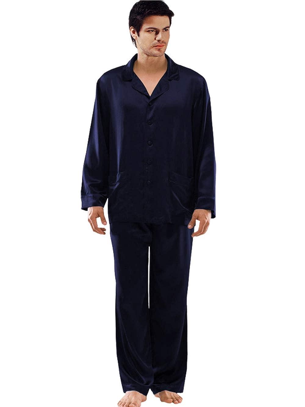 ElleSilk Set De Pijama De Seda para Hombres, Ropa De Dormir para Hombres 22 Mamá, Seda De Mora, Super Suave: Amazon.es: Ropa y accesorios