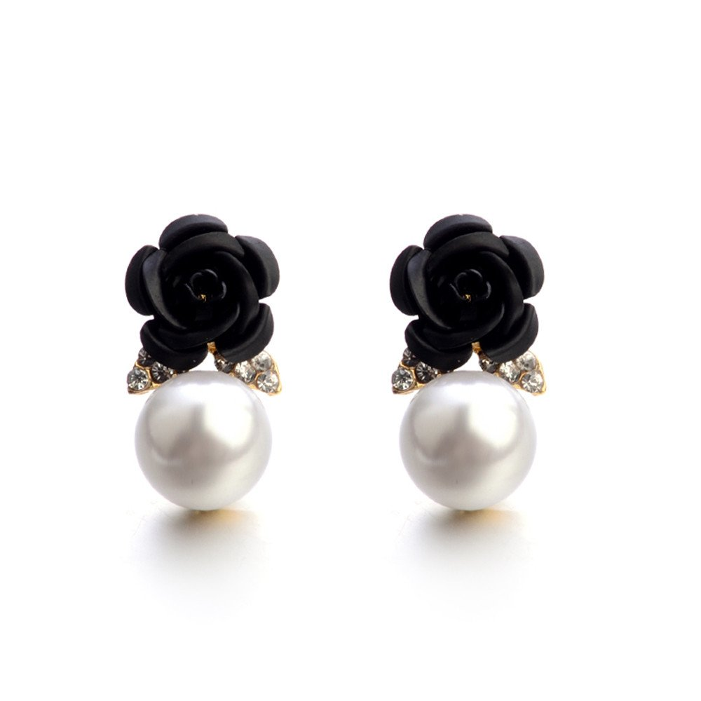 Fashion Jewelry Bohemia Flower Rhinestone Earrings Women Summer Style