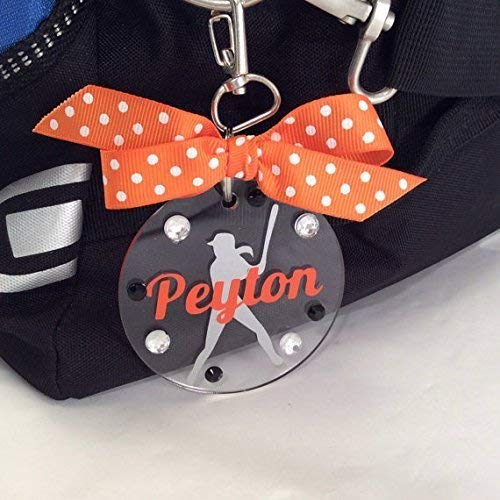 (Softball Batter Tag Personalized with Your Name and Your Colors)