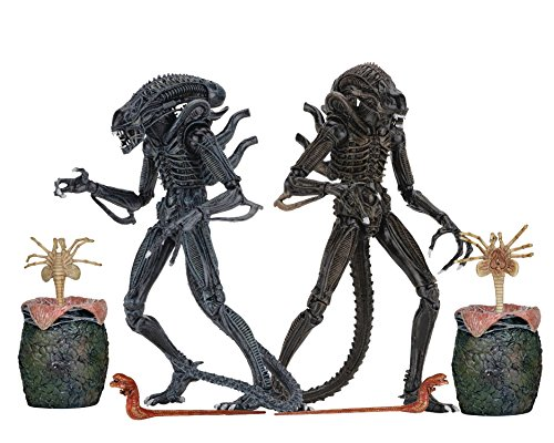 NECA Aliens: Ultimate Blue and Brown Aliens Warrior Set