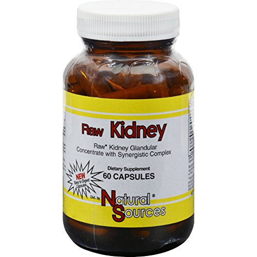 Natural Sources Raw Kidney - 60 Capsules by Natural Sources