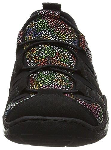 Rieker Cord - Calzado Deportivo Casual Para Mujer Black Combi