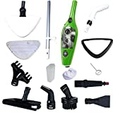 Mop X10 H2O Steam Cleaner Mop  Steamer with Handsfree Cradle Accessory As Seen on TV Green (10-in-1)