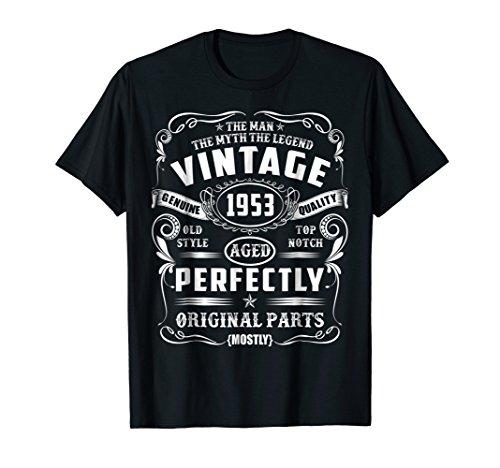 65th Birthday Tee Legend Vintage 1953 Original Parts T-Shirt (Vintage T-shirt Graphic Original)