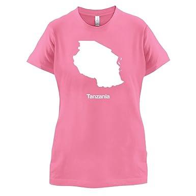 Tanzania / Tansania, Vereinigte Republik Silhouette - Damen T-Shirt -  Azalee - S