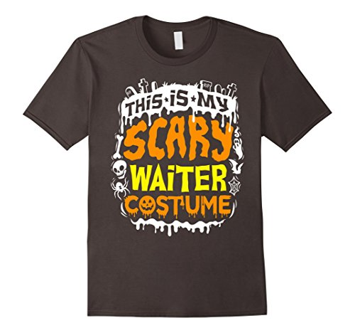 Mens This Is My Scary Waiter Costume T-Shirt - Halloween Medium (Restaurant Halloween Costume Ideas)