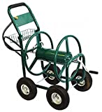 Garden Water Hose Reel Cart 300FT Outdoor Patio Yard Water Planting Heavy Duty 4 Wheels Swivel Easy Rolling Solid Steel Material
