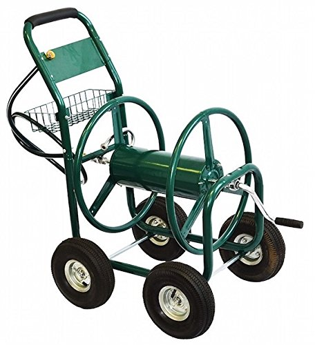 Garden Water Hose Reel Cart 300FT Outdoor Patio Yard Water Planting Heavy Duty 4 Wheels Swivel Easy Rolling Solid Steel - Drive International Stores Outlet