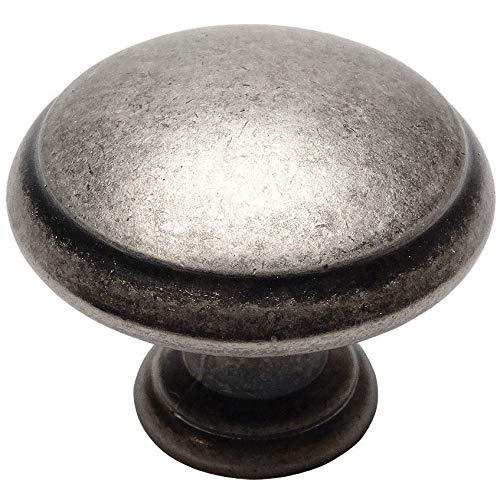 Cosmas 5422WN Weathered Nickel Cabinet Hardware Round Mushroom Knob - 10 Pack