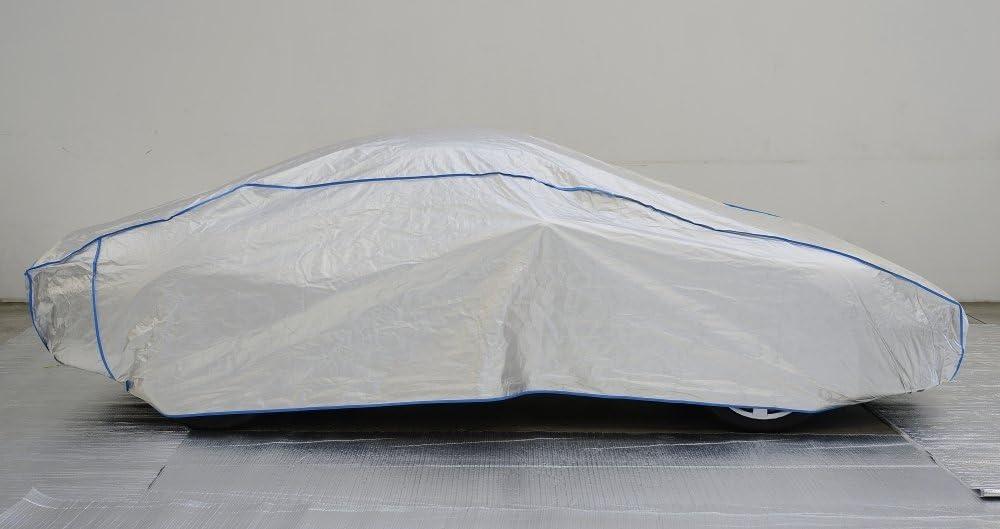 Kley /& Partner Auto Abdeckung Vollgarage Ganzgarage atmungsaktiv extrem leicht kompatibel mit Toyota MR2 ab 2000 in Silber Exclusive in Tyvek mit Lagerbeutel