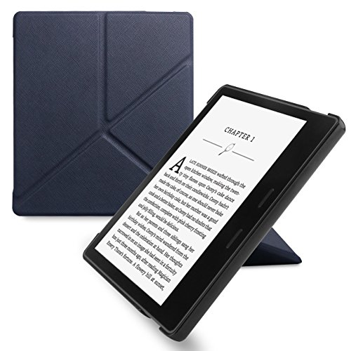 Walnew Amazon Kindle Oasis Stand Case Cover  Ultra Lightweight Pu Leather Smart Cover For 7 Inch Kindle Oasis 2017  9Th Generation  Navyblue