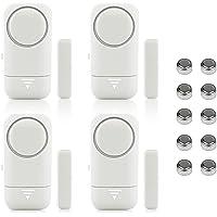 Shackcom 4pcs Deur- en Raamalarm Magnetische Draadloze Sensor Wireless voor Huis Beveiliging Systeem Kinder Veiligheid…