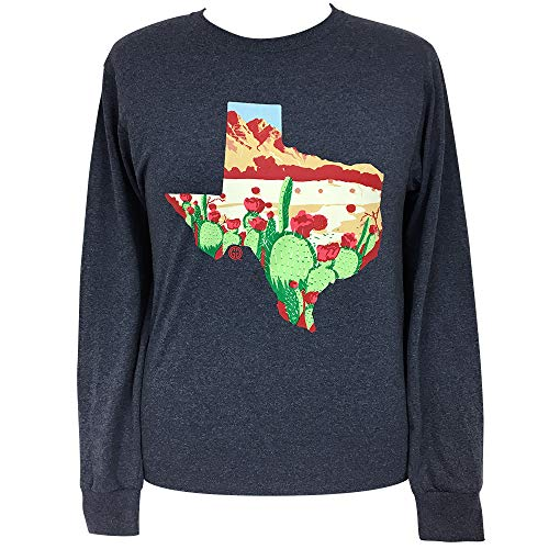 Girlie Girl Originals Texas Desert Vintage Heather Navy Short Sleeve T-Shirt (Medium)