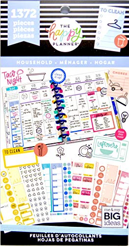 MAMBI, The Happy Planner - 1372 Household Value Pack Stickers