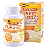 Pure Micronutrients Vitamin D3 5000 IU, Mini Softgels, Natural Vitamin D Supplement (Cholecalciferol). Best for Immune Support, Bone Health and Muscle Support, 120 Count For Sale