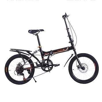 """LETFF Bicicleta Plegable para Adultos De 20"""", Bicicleta De Doble Filo con Amortiguador De"""