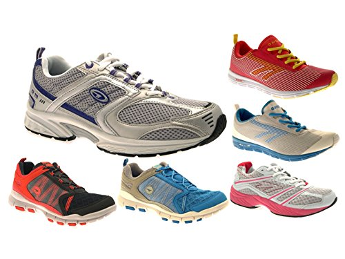 Hi-Tec Mens Sports Trainers Lace Up Gym Running Shoes Casual Pumps Size UK 10-5 Flyaway - Blue/Silver WMGJs9