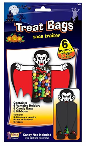 Vampire Halloween Treat Bag Party Favor Supplies, Pack of -