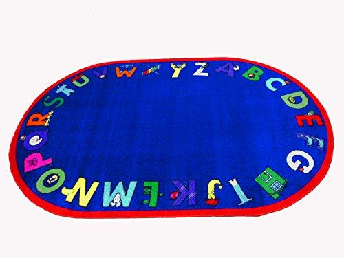 Kids World Carpets Alpha With Attitude Nylon Machine-tufted Area rug (8' x 10')