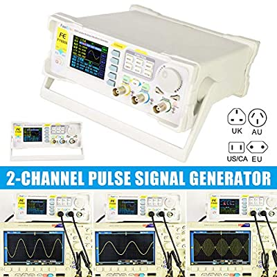 Qjoy Pulse Signal Generator, Spectrum Analyzer, 2 Channel DDS Arbitrary Waveform Pulse Signal Generator Frequency Counter Direct Digital Synthesizer