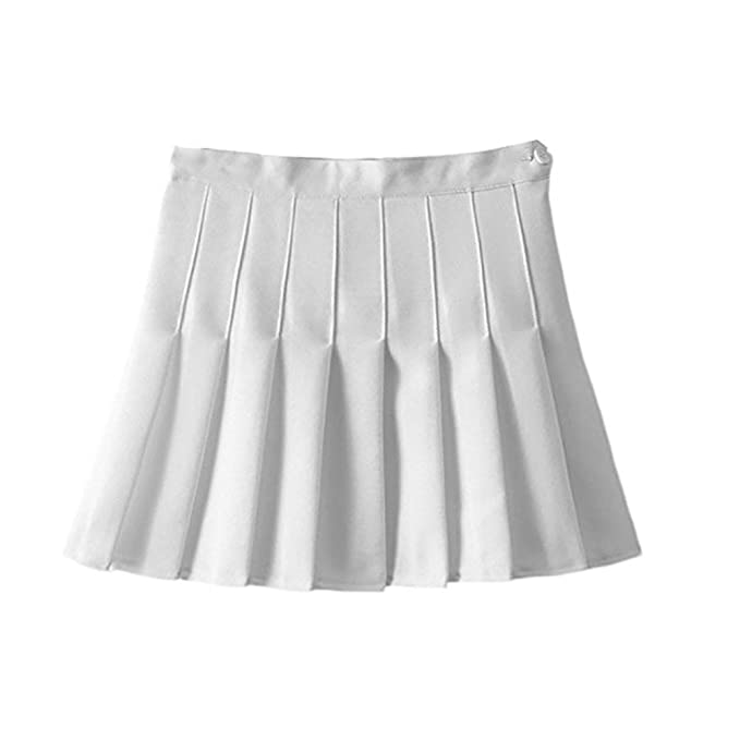 bdeb9f04b06e WINWINTOM High Waist Pleated Mini Skirts, Summer Girls Teens High Waist  Pleated Mini Skirts School Skirt Uniform Women Solid A-Line Skirts Flared  Tennis ...