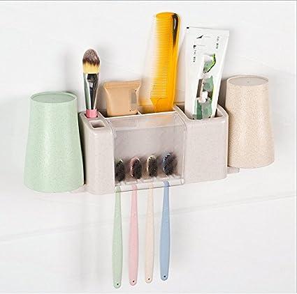 ruisilite soporte para cepillos de dientes par lavar traje enjuagarse la boca taza diente asiento lavar