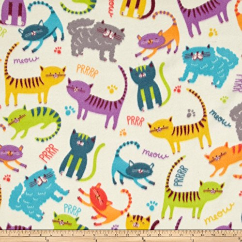 Kittens Fleece Blanket - Baum Textiles Winter Fleece Meow Club Fabric By The Yard, Multicolor