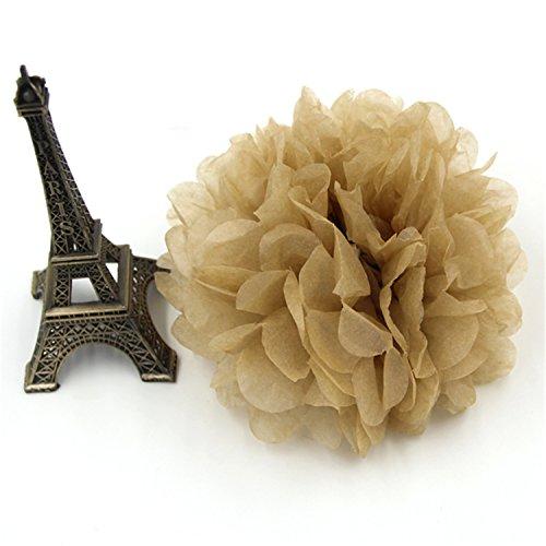 Surprising Day 5PCS Handmade Tissue Paper Pom Poms Paper Flower Ball For Home Garden Wedding Birthday&Wedding Car -