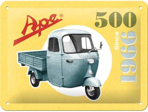 20x0x15 Nostalgic-Art Ape-500 Since 1966 Targhe Metallo Multicolore