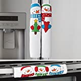 Winter Snowman Appliance Handle Covers - Set of 3