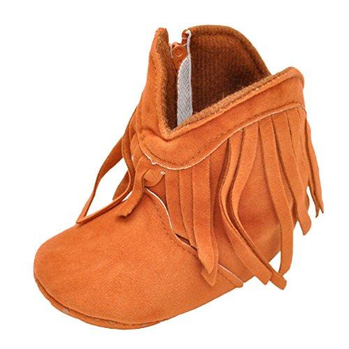 Braun Stiefel CHENGYANG Schneeschuhe Weiche Schönen Sohle Warme 10 Schuhe Winter Krippe Baby Schuhkleinkind 66Pxz4f