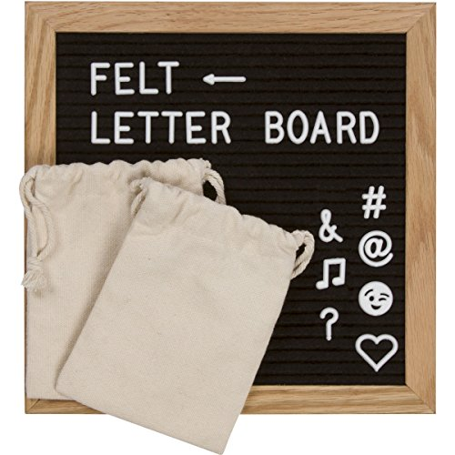 changeable-black-felt-letter-board-10x10-inch-wooden-frame-680-white-plastic-letters-and-characters-