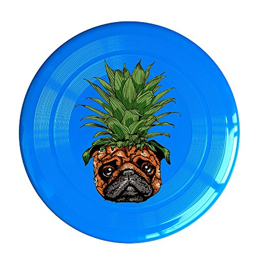 Uhouq Funny Pineapple Pug Colorful Disc Size One Size RoyalBlue