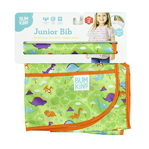 Bumkins Waterproof Junior Bib, Dinos (1-3 Years) by Bumkins (Image #2)