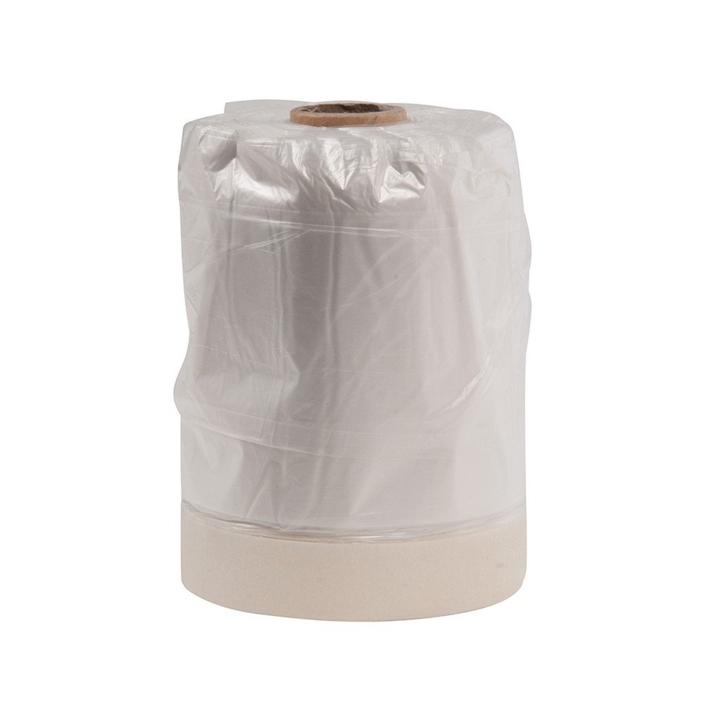 Silverline 100284 Heavy Duty Protective Dust Sheet with Masking Tape and Dispenser 550 mm x 33 m-Multicolor