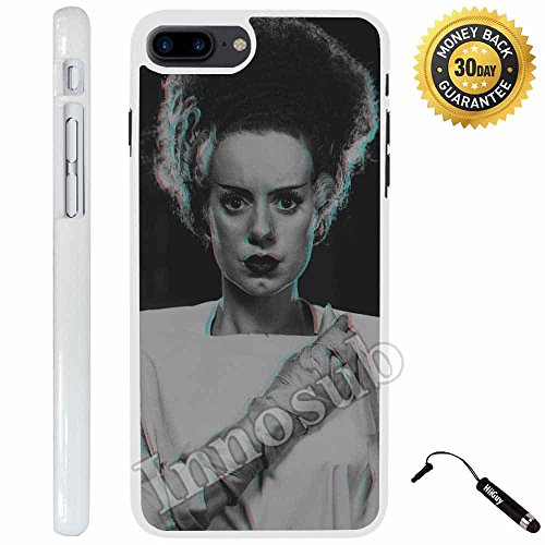 Custom iPhone 7 PLUS Case (Bride of Frankenstein) Edge-to-Edge Plastic White Cover with Shock and Scratch Protection | Lightweight, Ultra-Slim | Includes Stylus Pen by Innosub