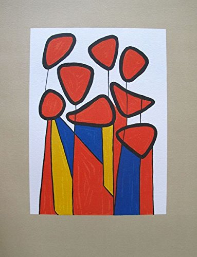 (Artwork by Alexander Calder Squash Blossoms 1973 Lithograph Print. After the Original Painting or Drawing. Measures 12.5 Inches X 9)
