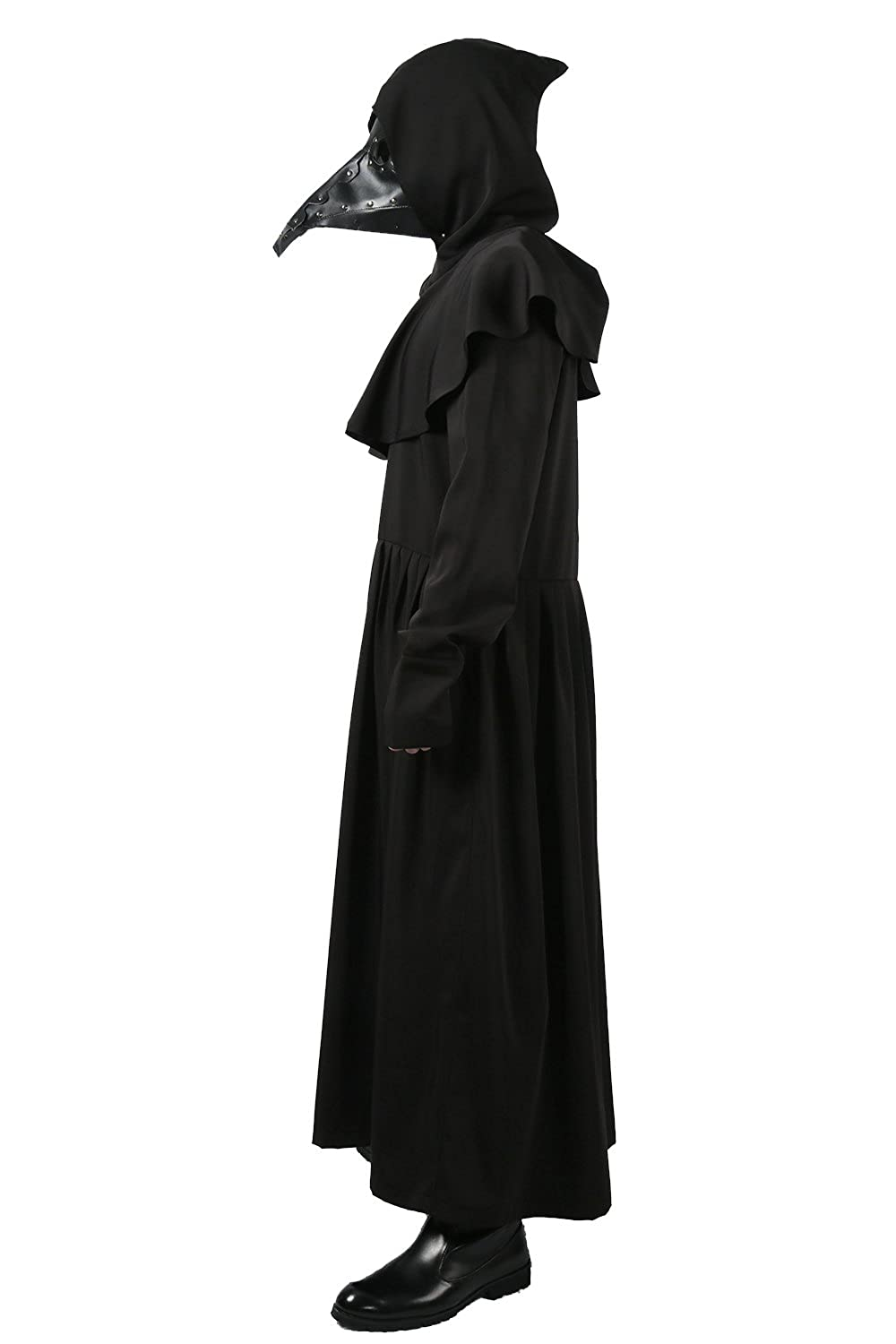 Black Plague Doctor Deluxe Cosplay Costume Outfit