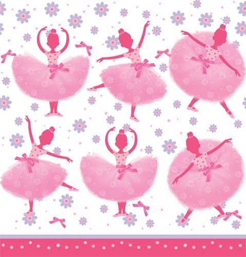 Ballet/Ballerina Deluxe Party Supply Bundle Tutu Much Fun For 16 Guests - Includes Plates, Napkins, Forks, Cups, Tablecover, Treat Bags and Favors by BlackLabel Direct (Image #5)