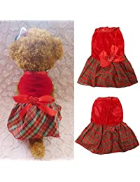 CheckOut Bargain World Summer Puppy Pet Skirt Small Dog Dresses Cute Cat Dog Clothes Apparel Costumes offer