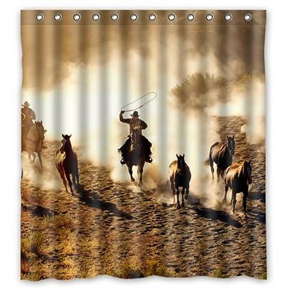 Amazon Cool Wild West Cowboy Shower Curtain 36x78inch